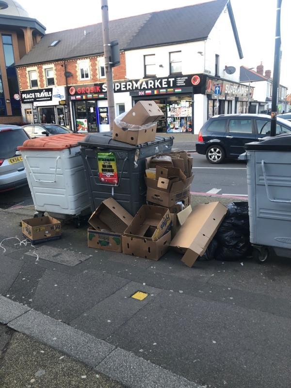 Overflowing bins-395 Oxford Road, Reading, RG30 1AD