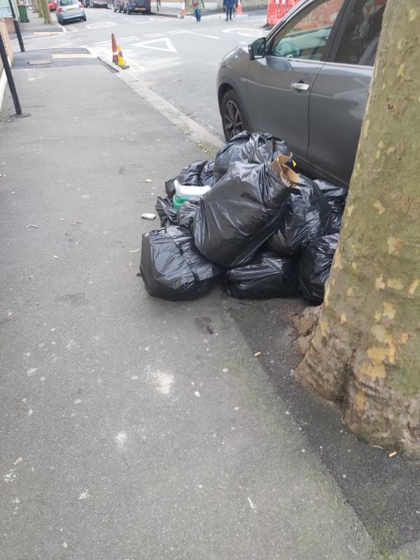 Dumped bags-36 Mitcham Road, East Ham, E6 3LU