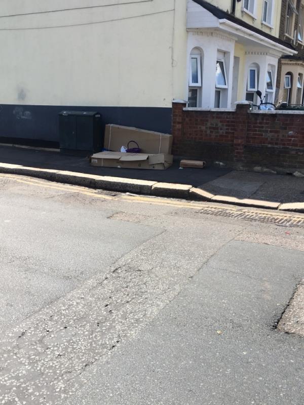 Cardboard and rubbish -159 Neville Road, London, E7 9QS