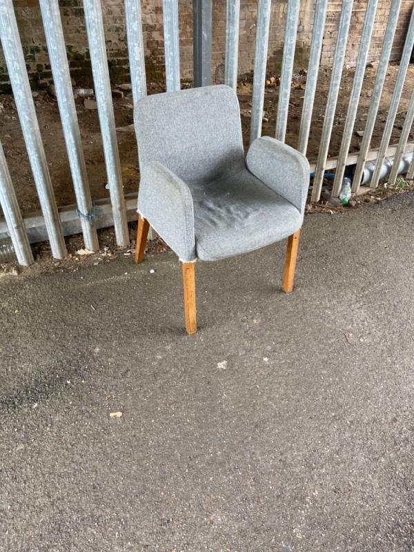 Chair under the bridge -9 Cranmer Road, London, E7 0JW