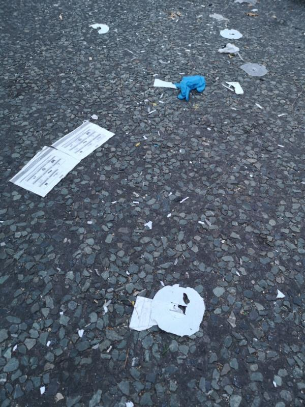 There has been rubbish on the entrance to Daneby Road for nearly a week. Also the Ladbrokes has rubbish outside of it. -201a Bromley Road, London, SE6 2PG