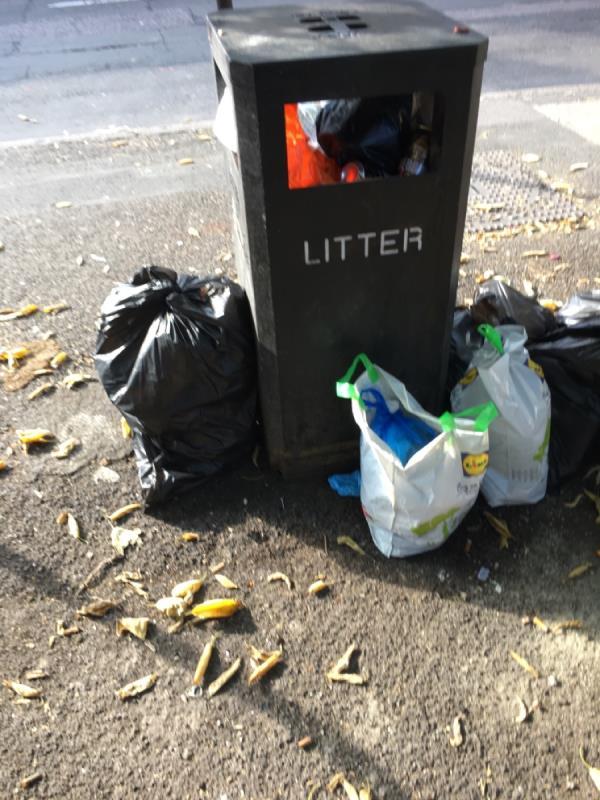 Bin full-73a Katherine Road, East Ham, E6 1EW