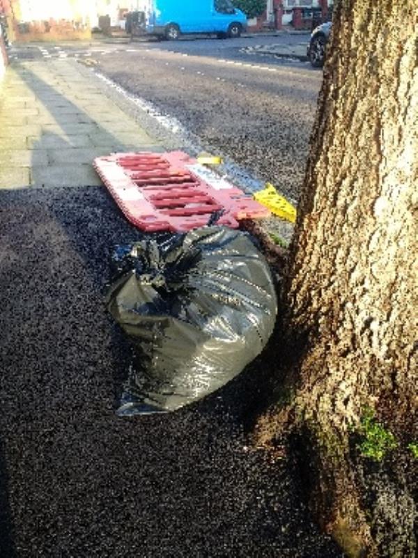 dumped rubbish in Field Rd N17-83 Dongola Road, London, N17 6EB