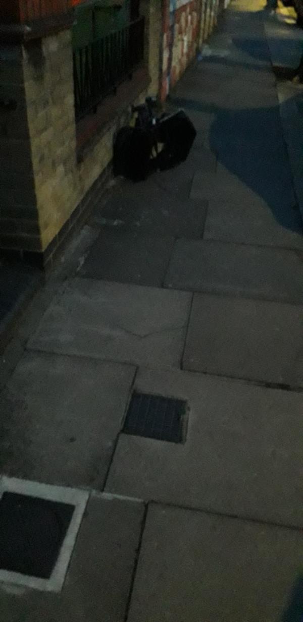 Buggy outside house-58 Chaucer Road, London, E7 9NB