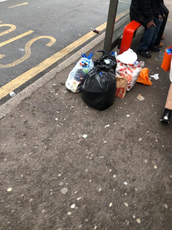 Again rubbish just left -2 Gladstone Ave, London E12 6NS, UK
