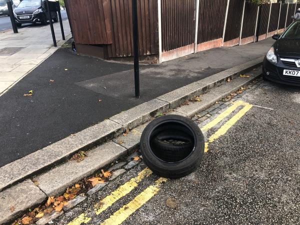 Car Tyres abandoned -496a Barking Road, London, E13 8AL