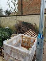 Looks like local builders rubbish plus dead Xmas trees dump image 1-167 FRENSHAM, London, SW15 3ED