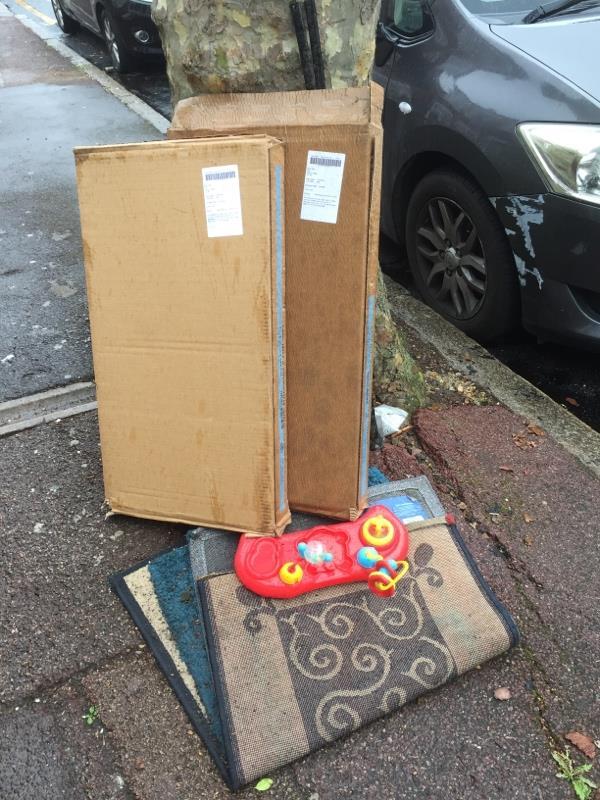 Rubbish dump -102 Shelley Ave, East Ham, London E12 6PU, UK