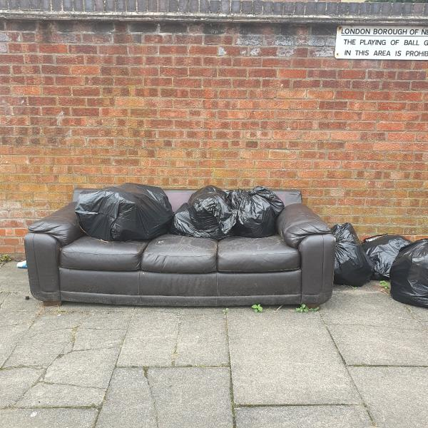 The parking space behind 10-22 mitre road is full of dumped waste image 2-14 Mitre Road, London, E15 3JF