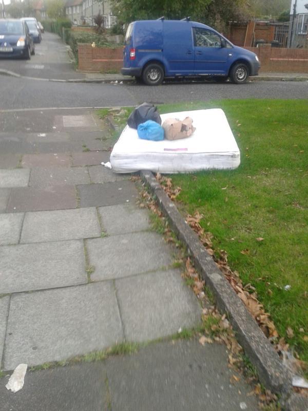 please clear flytip lf a mattress-50 Oakridge Road, Bromley, BR1 5QN