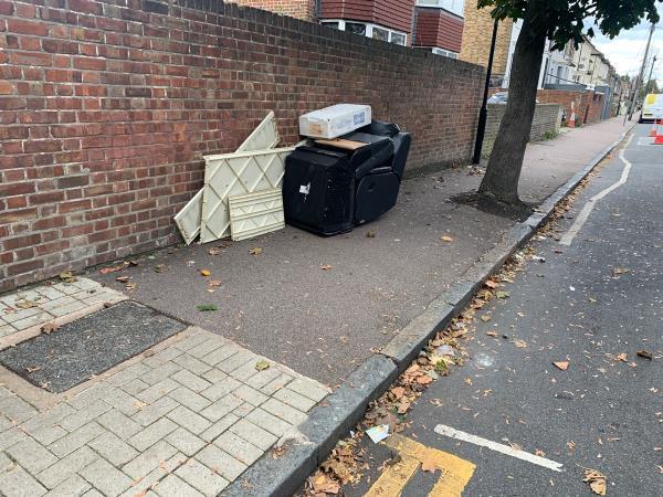 Selwyn Road  Near corner Dumping is constantly having -2 Rosebery Ave, London E12 6PZ, UK