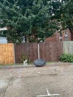 Boxes, ladder, black bins and umbrella  image 2-60 Hamfrith Rd, London E15 4LF, UK