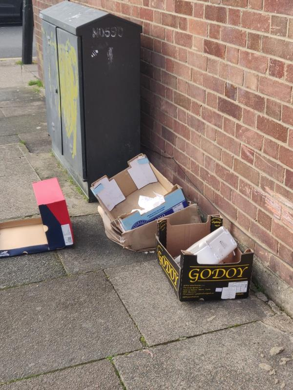 Some one has fly tipper some more rubbish. -23 Westbury Road, London, E7 8BU