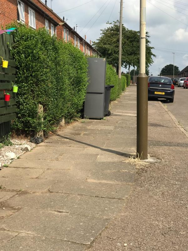 Fridge freezer dumped in the street-2 Biddle Road, Leicester, LE3 9HG