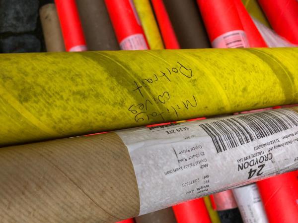 Opposite no 10. Please clear 30 Cardboard Tubes. Reported via Lewisham Homes Web Form-10 Havelock Walk SE23