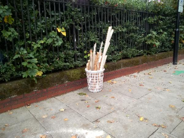 laundary basket with wood-321 Upton Lane, London, E7 9PT