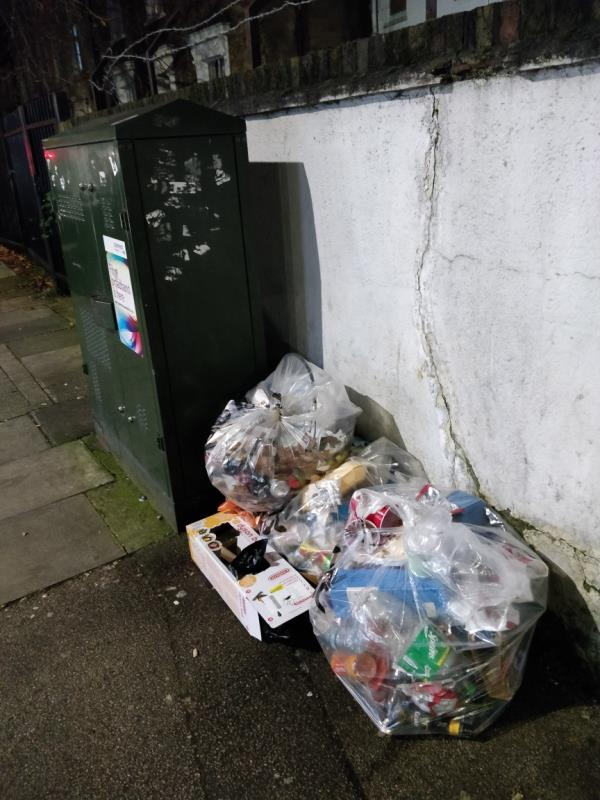 Dumped cardboard box on the pavement beside 2 Gurney Road off Leytonstone Road E15-2 Gurney Road, London, E15 1SH