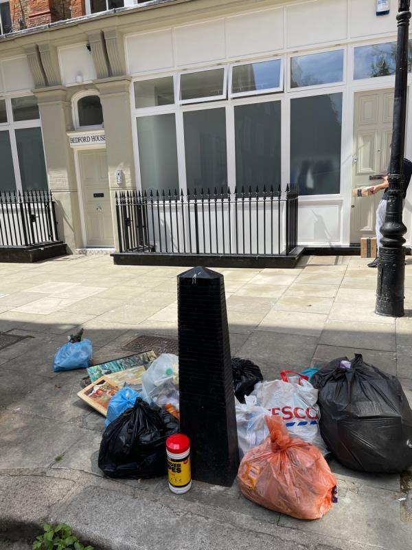 Private flat rubbish damped here every day-1 Gunpowder Square, London EC4A 3EP, UK