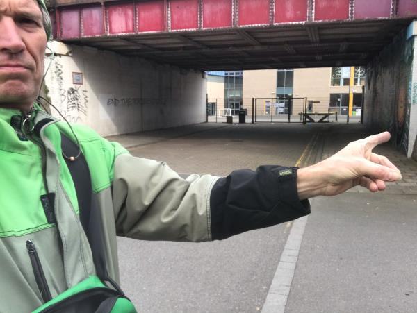 Usual hotspot on wall. Small tag on corner by mural too. -8 Brookbank Road, Lewisham, SE13 7BS
