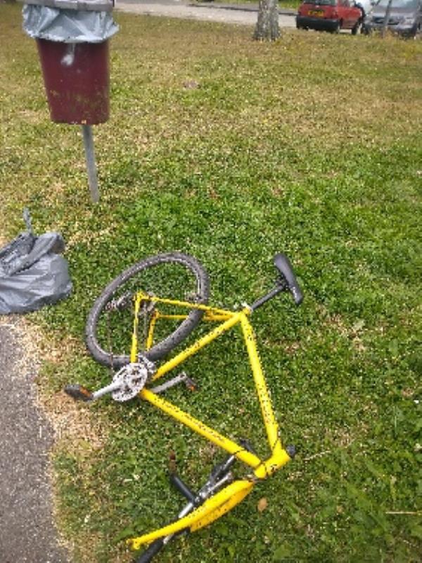 Bike flytipped no evidence /taken -30 Granville Road, Reading, RG30 3QD