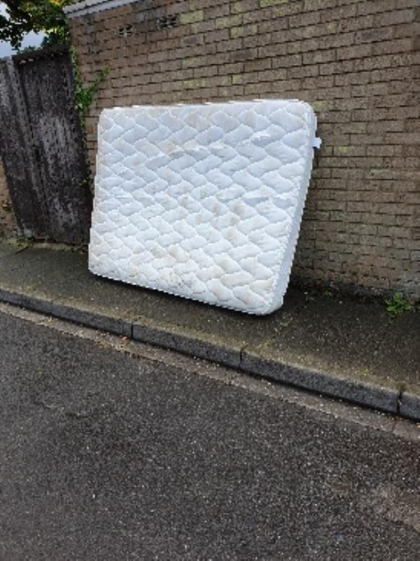 mattress behind 182 Caswell-99 Caswell Close, Farnborough, GU14 8TE