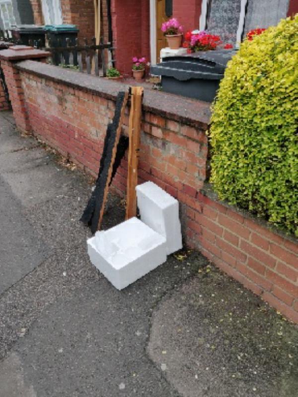 Dumped on footpath outside 107 Farrant Avenue.-109 Farrant Ave, Noel Park, London N22 6PD, UK