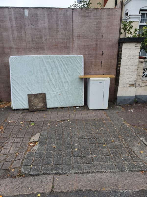 Household waste. One large mattress and a medium sized fridge.-351 Monega Road, Manor Park, E12 6TZ
