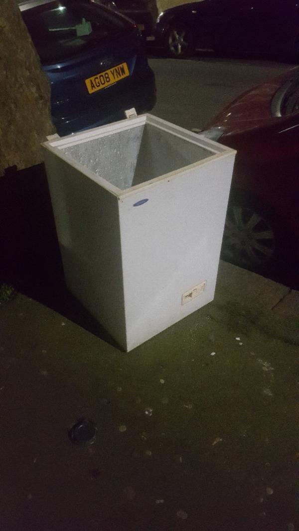 freezer dumped-21 Caledon Road, East Ham, London E6 2HE, UK
