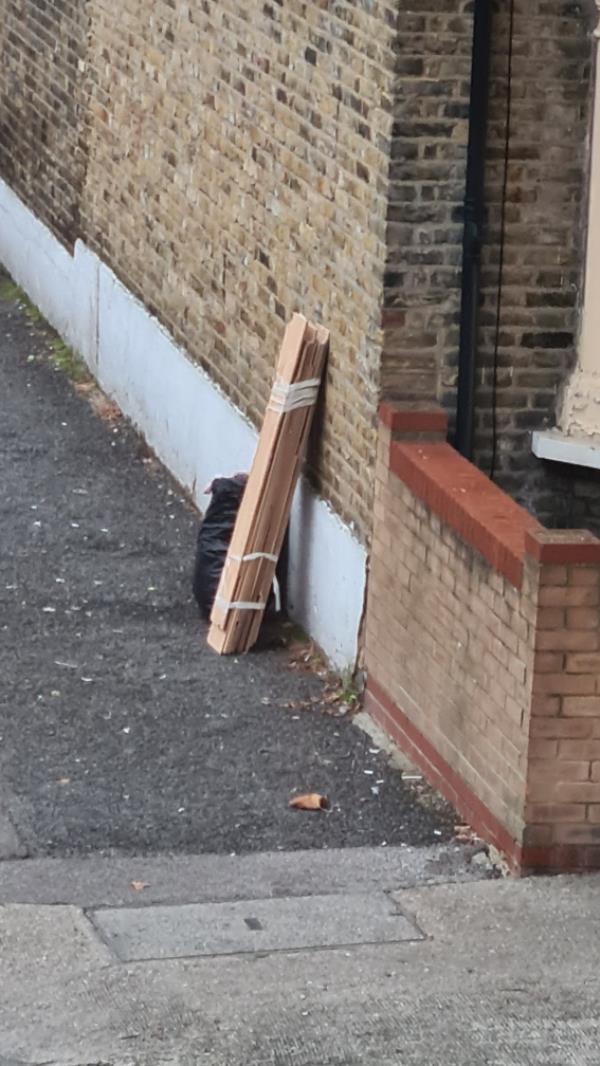 Black bag and panel wood-130 Grangewood St, London E6 1HD, UK