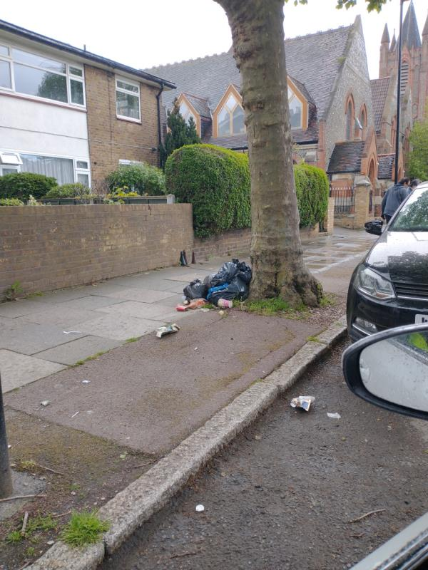 Black bags -2c Norwich Road, London, E7 9JH