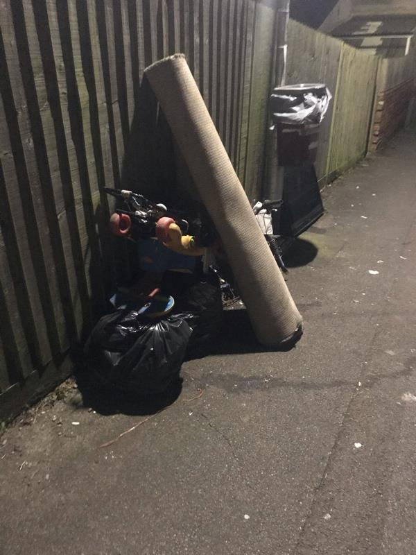 Fly tipping Auckland road , again-51 St Peters Road, Reading, RG6 1PA