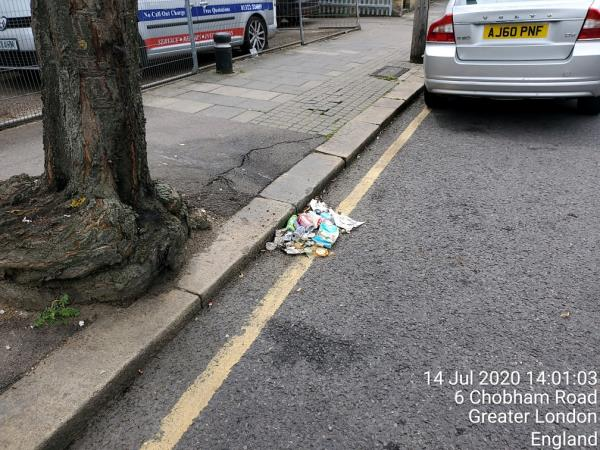 rubbish on street-2 Chobham Road, London, E15 1LU
