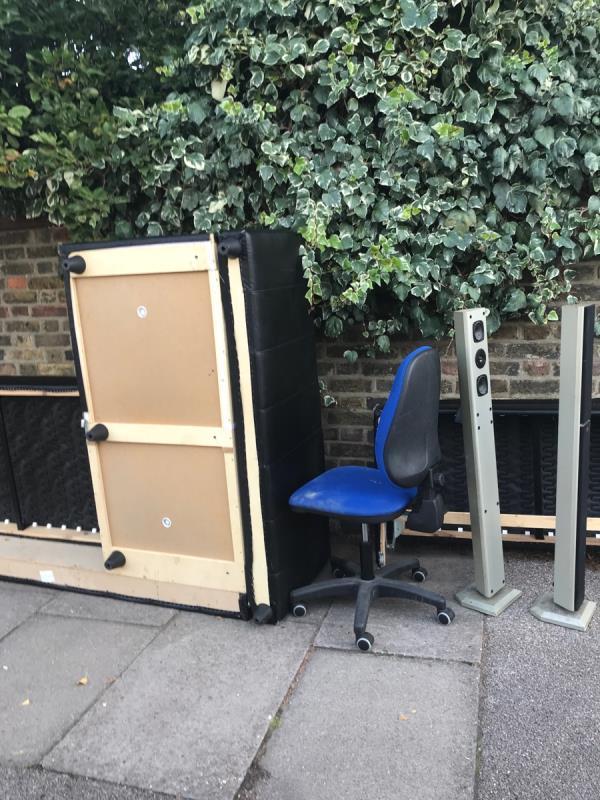 Sofa, office chair, speakers-20 Thornsbeach Rd, Catford, London SE6 1DX, UK