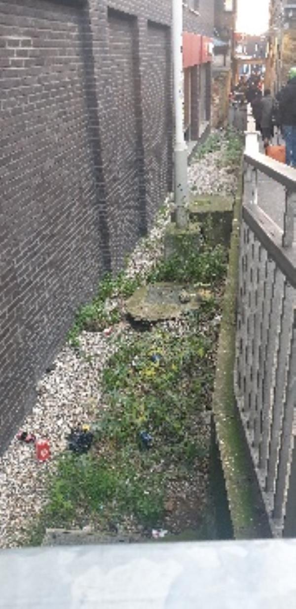 litter behind tkmax and near bikes rails-Amhurst Road Car Park Amhurst Road, London, E8 1LL