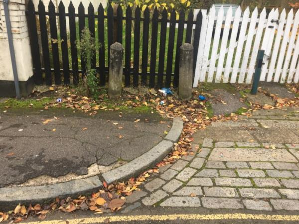 Plastic rubbish strewn along the edge of the road-23 Eade Road, London, N4 1DJ