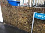 Wall blast 3m image 1-22 Mornington Rd, New Cross, London SE8 4BN, UK