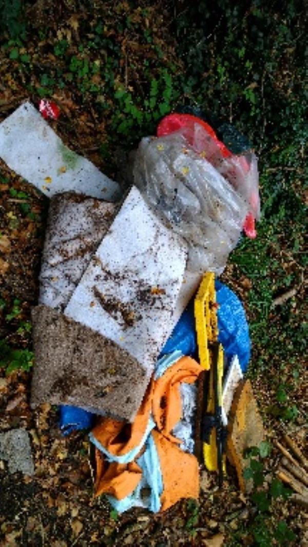 Flytipped carpet, wood etc no evidence taken  image 1-27 Hollydale Close, Reading, RG2 8LL