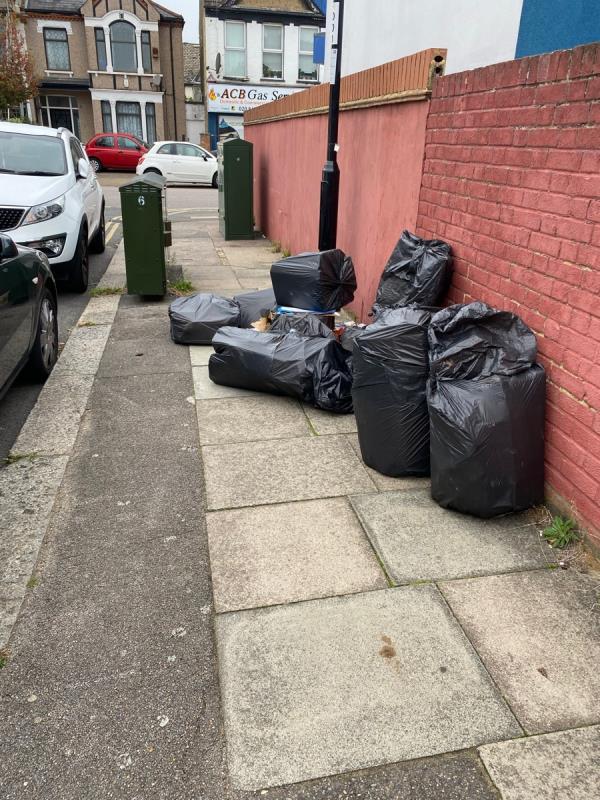 Rubbish dumped again following recent clean up -3 Braidwood Road, London, SE6 1BE