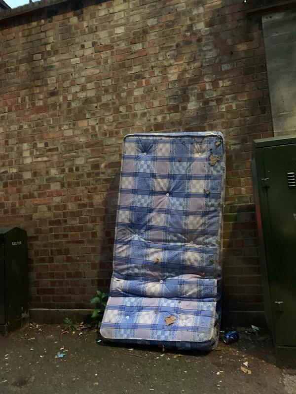 Mattress and rubbish bags-1a Creighton Ave, London E6 1QT, UK