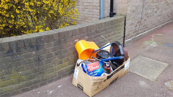 Box of rubbish -228 Sangley Road, London, SE6 2JS