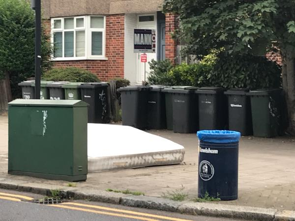 Mattress outside 225 Kirkdale -227 Kirkdale, London, SE26 4NW