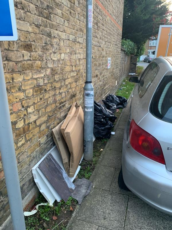 Fly tipped rubbish -78 Leahurst Road, London, SE13 5NN