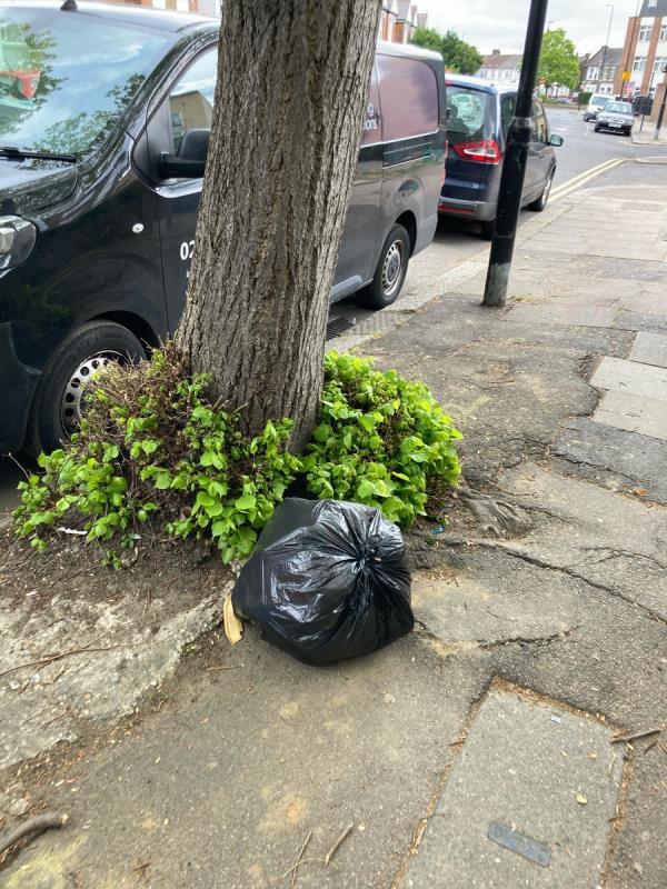 Black bag -Crowhurst Court Lansdowne Road, Tottenham, N17 9XZ