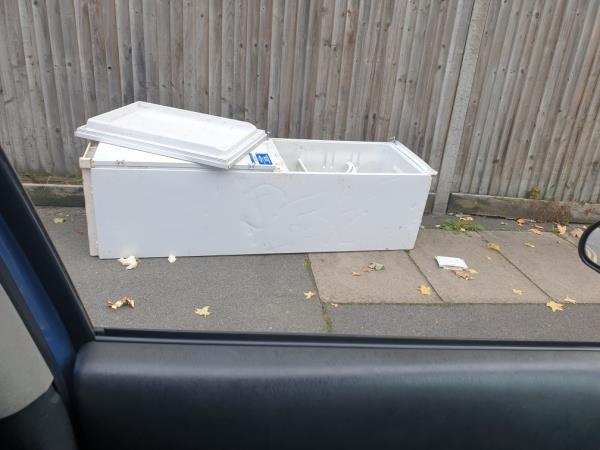 fridge freezer dumped-108-110 Bromley Road, London, SE6 3BJ