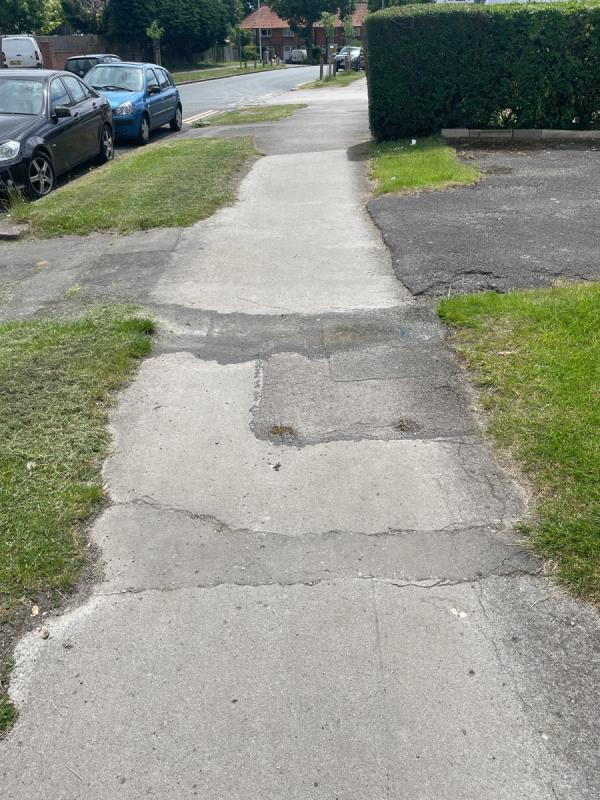 Minor water leak on pavement (flooding was closest category I could find)-9 Chiltern Road, Reading, RG4 5HR