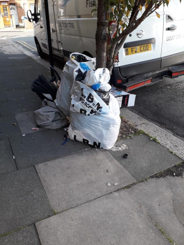 household waste -35 Eversleigh Road, East Ham, E6 1HG