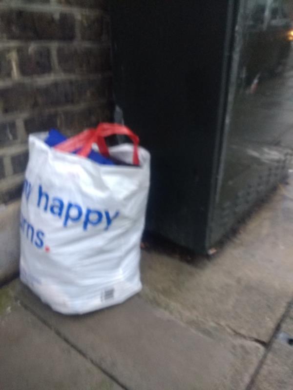 dumped rubbish in Field Rd N17-83 Dongola Road, Tottenham, N17 6EB