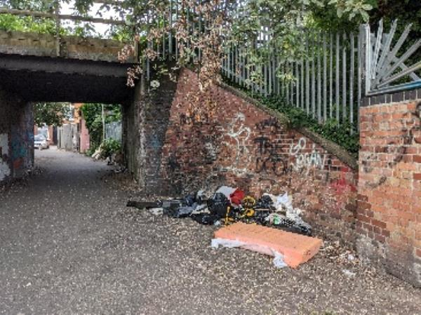 lots of rubbish dumped over the weekend.-86 Raymond Road, Leicester, LE3 0DJ