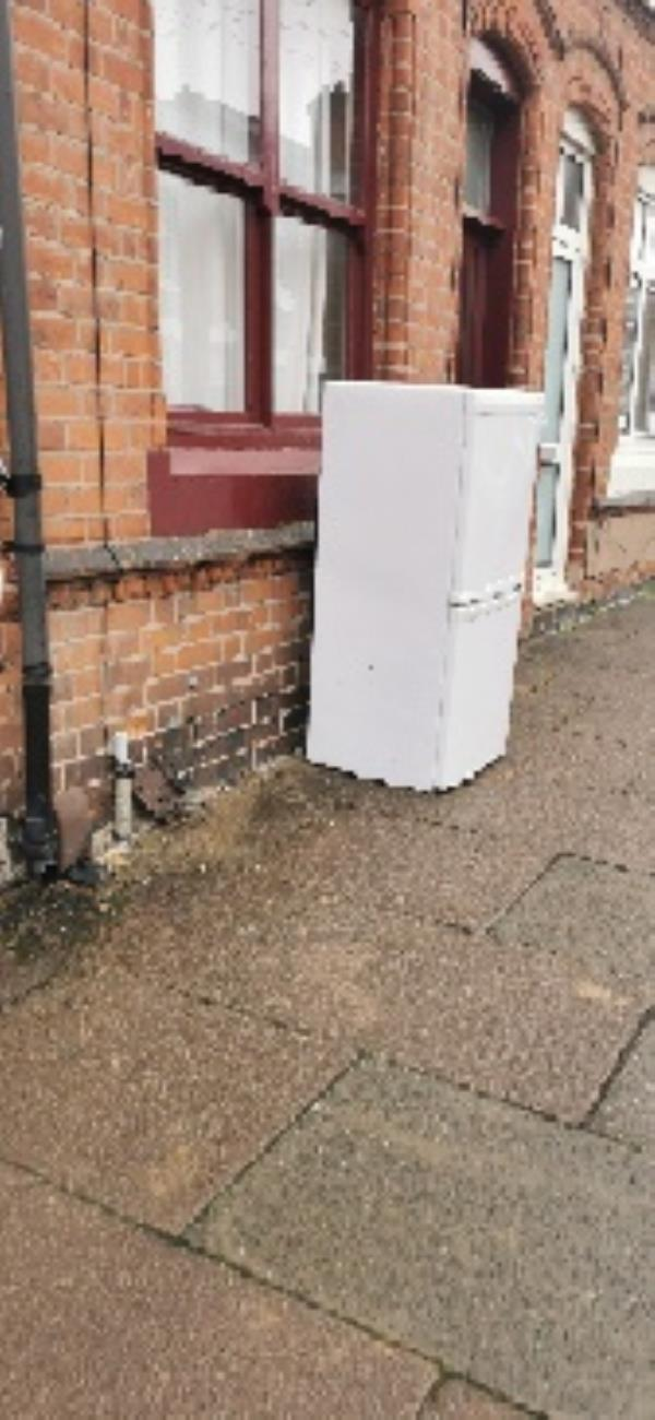 Fridge dumped on pavement for over a week-19 Cecilia Road, Leicester, LE2 1TA