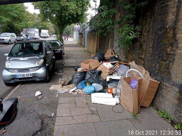 Massive waste under bridge near -2 Fordmill Road, Bellingham, SE6 3JL